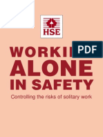 Working Alone in Safety