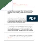 Argumentative Essay Models