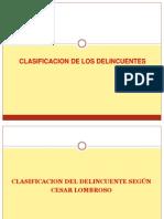Clasificacion de Los Delincuentes Para Exposicion