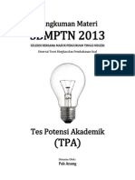 SMART SOLUTION Tes Potensi Akademik SBMPTN 2013 (Kemampuan Verbal)
