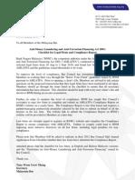 Circular No 147-2011 AMLATFA Checklist for Legal Firms and Compliance Report