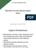 Aktivitas Pria Dan Wanita Dalam Islam