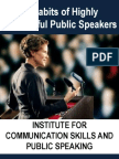 The11 Habits of Highly Successful Public Speakers - 4 Days workshop in India, Middle East and Asia Pacific