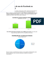 Estadísticas de uso de Facebook en México 2012