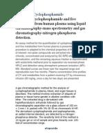 Cyclophosphamide & Etoposide