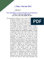 Ley Núm. 3 del 2013