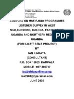 MSE Radio Programmes Listener Survey June 2005_Ian Nkata_Uganda