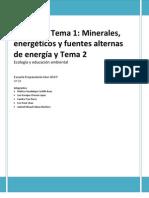 Cuestionario Ecología Tema 1, 2do periodo