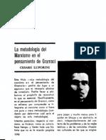 Cesare Luporini - La Metodologia Del Marxismo en El Pensamiento de Gramsci