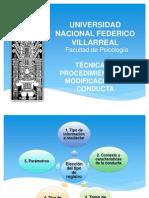 TECNICAS Y PROCEDIMIENTOS EN MODIFICACION DE CONDUCTA - COMPLETO - copia.pptx
