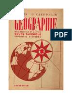 Géographie Cours Supérieur Certificat d'Etudes Kaeppelin-Leyritz