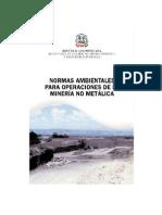 Normas Mineria No Metalica en Republica Dominicana