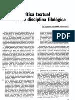 Critica Textual Guzman Guerra