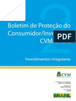 Boletim de proteção do consumidor investidor