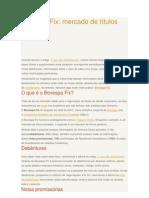 Bosvespa Fix_ Mercados de Titulos Privados