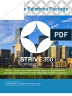 STRIVE360 Corporate Relations Package