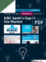 KBC Bank's Gap In The Market