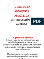 Introducion Geometria Analitica y La Recta