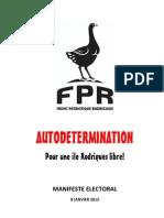 FPR Manifeste Electoral 2012