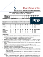07.08.13 Post-Game Notes