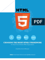 Choosing the Right HTML5 Framework to Build Your Mobile Web Application a White Paper by RapidValue Solutions