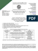 ECWANDC - Special Board Meeting Agenda