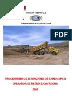 Procedimientos Operador de Retro Excavadora