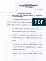 Policy OF Divisioinal Accounts Officer in Pakistan issued by CGA Islamabad