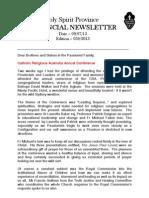 Provincial Newsletter - Ed. 030 - 09.07.13