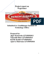 Report on Wagh Bakri