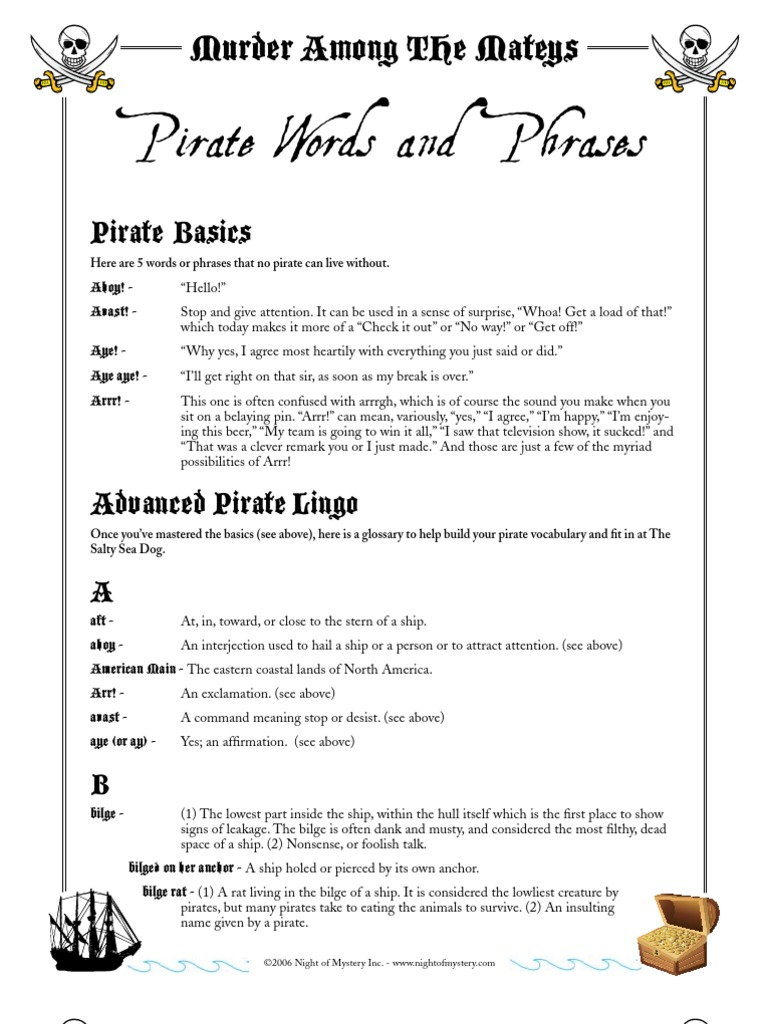 Mateys Dictionary | Privateer | Piracy