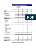Pro-Forma Income Statement