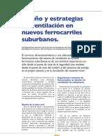 Diseño y estrategias de ventilacion en nuevos ferrocarriles suburbanos