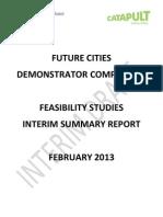 Future Cities Feasibility Studies - Interim Report