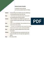 Example Conversation Between Friends in English