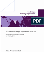 An Overview of Energy Cooperation in South Asia