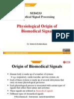 Physiological Origin of Biomedical Signal