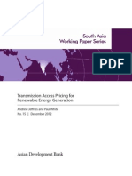 Transmission Access Pricing for Renewable Energy Generation