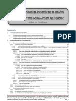 Los Marcadores del Discurso en Español y sus equivalencias en Italiano