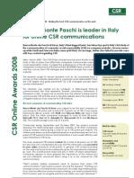 Lundquist CSR Online Awards 2008 - Executive summary
