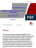 2 Key Parameters About GSM Performance:Suggested Default Values + Check Tools + Deliverables 20100730