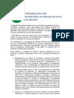 CONFIANÇA NA CDU - Manifesto Distrital