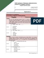 Sample Paper MSCS