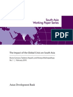 The Impact of the Global Crisis on South Asia