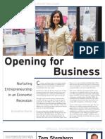 Nurturing Entrepreneurship in an Economic Recession