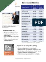 Sales Job Search Statistics Q109