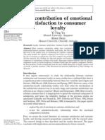 Consumer emotions