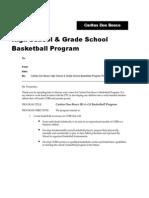 Sample Basketball Program Proposal