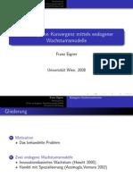 Erklärung von Konvergenz und Einkommensdifferenzen mit Hilfe endogener Wachstumsmodelle - Präsentation