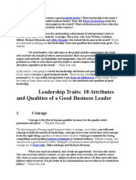 What Leadership Qualities Make a Good Business Leader